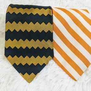 2 Silk Striped Ties: Alexander Julian, Brooks Bros